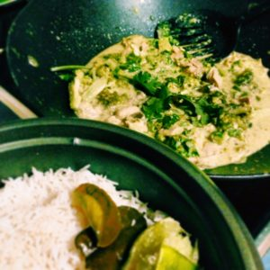 Thai Green Curry with Coconut Rice